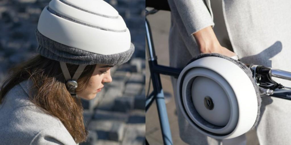 Fuga il casco piatto della bici di Closca Design